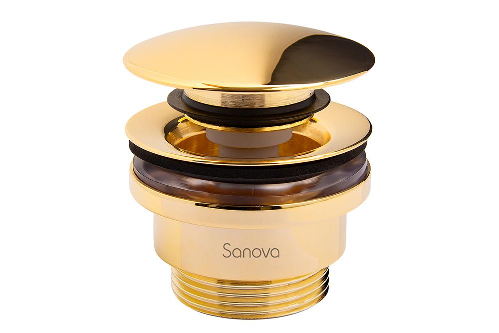 Bottenventil Sanova push open stängningsbar