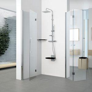 Young 31 vikbara duschvägg